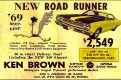 Plymouth Road Runners are among the most iconic of all muscle cars of the late and early and the 1969 may be the best year of all. This was the height of Mopar fascination with using the. Old Advertisements, Car Advertising, Mopar, Classic Chevy Trucks, Classic Cars, Performance Cars, Us Cars, Old Ads, Vintage Ads