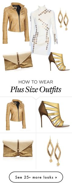 """""""Untitled #983"""" by cookmary on Polyvore featuring Thierry Mugler, Christian Louboutin, VBH, Black Rivet, Chico's and plus size clothing"""