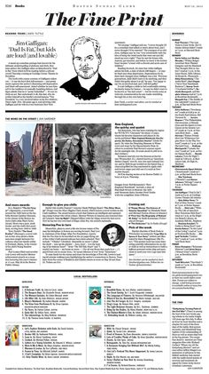 Boston Globe - The fine print #blacklines #multiarticlepages