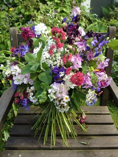 Wessex Flower Company - Wild hand tied bouquet. Photo Bouquet, Boquet, Flower Bouquets, Wedding Bouquets, Wedding Flowers, Happy Flowers, Summer Flowers, Colorful Flowers, Beautiful Flowers