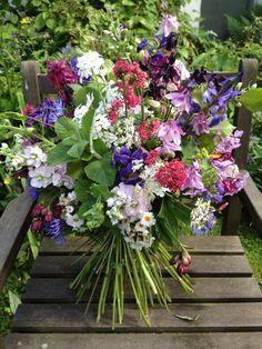 Wessex Flower Company - Wild hand tied bouquet.