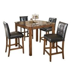Signature Design by Ashley D158-233 Theo Square Counter Height Dining Set