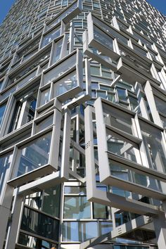 building detail, by Jean Nouvel, Chelsea New York, 2010 Modern Architecture Design, Facade Design, Facade Architecture, Beautiful Architecture, Jean Nouvel, Interesting Buildings, Amazing Buildings, Building Facade, Building Design