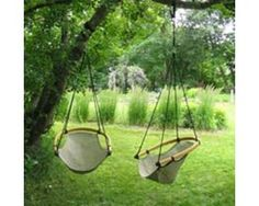 Indoor/outdoor swing chair. Comfy!
