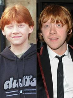 Child Stars:  Then And Now  -- Child star: Rupert Grint At 13, Rupert Grint (born 24 August 1988) had the perfect hair to play Ron Weasley in the Harry Potter films.   from: nowmagazine.co.uk