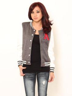 Fleece Varsity #Jacket