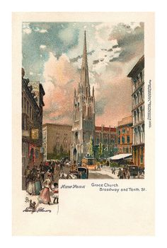 Grace Church, New York postcard by totallymystified, via Flickr