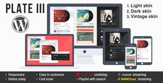 Plate III - music & streaming plugin for Wordpress (Media) Download   #audio #audioplayer #html5 #html5musicplayer #icecast #lastfm #media #mobile #player #playlist #radiostation #responsive #shoutcast #streaming #wordpress http://w7download.com/plate-iii-music-streaming-plugin-for-wordpress-media-download
