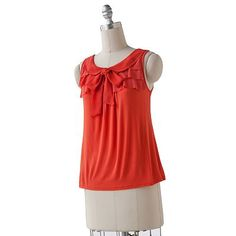 Elle for Kohl's Tiered Ruffle Chiffon Tank with Peter Pan Collar
