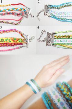 Charm Bracelet hippie bracelet multistrand by CharmeParisien