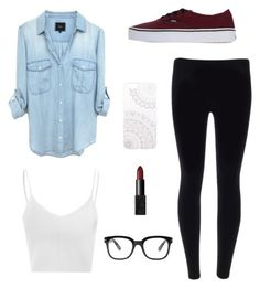 """casual"" by angiee125 ❤ liked on Polyvore featuring Glamorous, Vans, Forever 21, Monika Strigel and NARS Cosmetics"