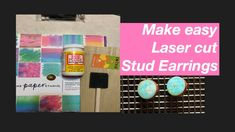 How to Make Laser Cut Stud Earrings #22 - YouTube Diy Jewelry Videos, Paper Design, Laser Cutting, Make It Simple, Stud Earrings, Youtube, Stud Earring, Youtubers, Earring Studs