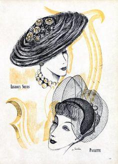 Paulette & Legroux Soeurs 1948 Hats, Barlier