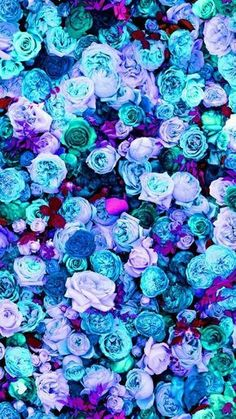 Mint blue lilac teal pink peonies roses floral iphone phone wallpaper background lock screen More