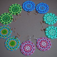 Mandala kralen oorbellen. uw keuze van roze/lavendel door BohemEden