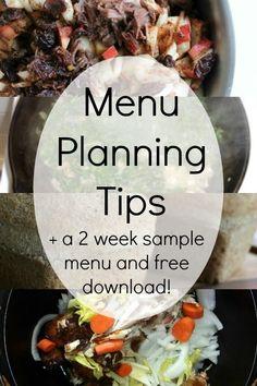 Get a sneak peak at our favorite menu planning tips, plus a free downloadable menu planning form!