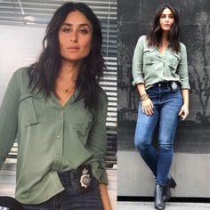 Kareena Kapoor Lipstick, Kareena Kapoor Lipstick Collections: From pink to red, THESE are the lip colours Kareena Kapoor Khan swears by Bollywood Outfits, Bollywood Fashion, Bollywood Saree, Kareena Kapoor Khan, Deepika Padukone, Sonakshi Sinha, Green Shirt Outfits, Karena Kapoor, Dress Over Pants