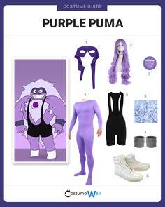 The best cosplay guide for dressing up like Purple Puma, the pro-wrestling alter-ego of Amethyst from Cartoon Network's Steven Universe.