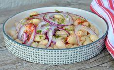 Salată de fasole boabe cu ceapă și dressing acrișor - de post | Savori Urbane