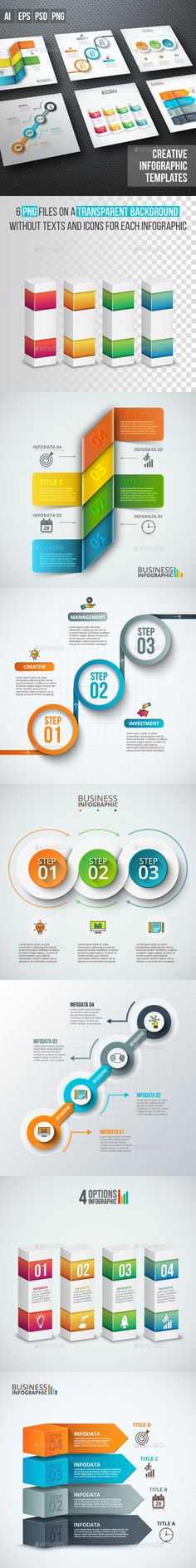 Business Infographic Diagrams Template PSD, Transparent PNG, Vector EPS, AI Illustrator