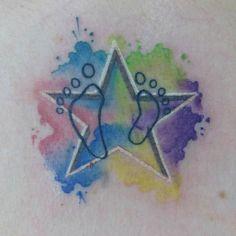 Internet design #watercolor #watercolortattoo #startattoo #estrella #acuarela by paigrado