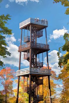 Peninsula State Park Eagle Tower | Built in 1932, the 76-foot Eagle Bluff observation tower is located atop the 180-foot limestone Eagle Bluff within Peninsula State Park. The towers offers panorama views of the park, the Village of Ephraim, and surrounding islands.