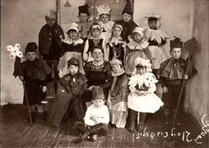 The Volozhin Kindergarten  Purim in the Kindergarten – 1935    Of all the lovely children two only escaped the Shtetl's fate: Sonitshka Perlman-2 and Feyguele Rapoport-4