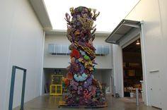 Column insert for aquarium - Coral reef - Artificial Coral - Rockscapes