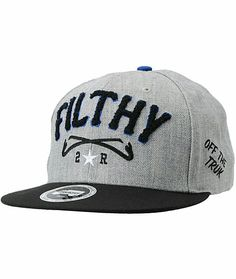 Trukfit Filthy Chenille Heather Grey Snapback 8ac92c6cabf8