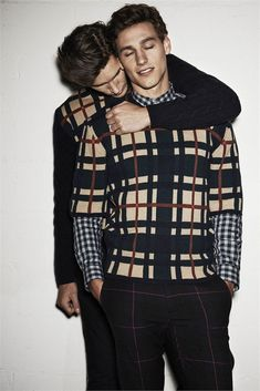 Dominik Bauer e Mariano Ontañon by Giampaolo Sgura for MSGM Fall/Winter 2014-2015 ad campaign