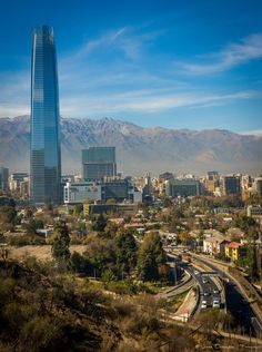 Costanera Center in Santiago, Chile: Tallest building in South America and second tallest in the Southern Hemisphere Cool Places To Visit, Places To Travel, Travel Destinations, Chile Tours, Peru, Chili, Thinking Day, South America Travel, Latin America