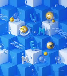 Bubble & Smiley | Hyundai Department Store on Behance 3d Cinema, 3d Poster, Food Graphic Design, 3d Typography, Bubble Art, 3d Artwork, Science Art, Motion Design, Smiley