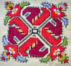 Bulgarian embroidery pattern ✳6 Cross Stitch Borders, Cross Stitching, Cross Stitch Patterns, Embroidery Motifs, Cross Stitch Embroidery, Embroidery Designs, Chart Design, Native American Beading, Needlework