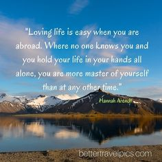 """""""Loving life is easy when you are abroad. Where no one knows you and you hold your life in your hands all alone you are more master of yourself than at any other time."""" Tag a friend who has #wanderlust. Want to take Better Travel Pics? Register NOW at http://ift.tt/1pe1GGR or click on the link in our bio for our FREE eBook on how to take better travel pics on your next holiday. Get your free eBook and cheat sheets today. Photo by @johnlechnerart #travelpics #travel"""