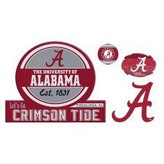 Alabama Crimson Tide Game Day 4-Piece Magnet Set, Multicolor