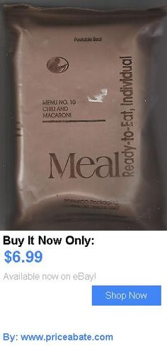 Food And Drink: Meals Ready To Eat (Mre) Menu # 21 Chicken Tetrazzini, Sealed- ,New Condition BUY IT NOW ONLY: $6.99 #priceabateFoodAndDrink OR #priceabate