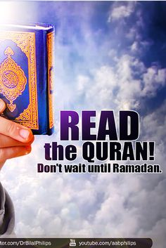 We should be reading Quran regularly, not only leaving it for Ramadan only. Dr. Bilal Philips #Quran #Ramadan