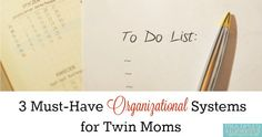 3 Must-Have Organizational Systems for Twin Moms