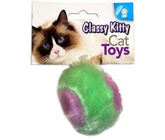 North American Pet Toy Ck Furry Ball *** Click image for more details.