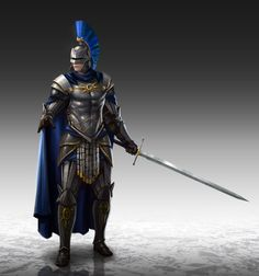 Art by Nathan Park - Human warrior with heavy metal armor and longsword Fantasy Male, Fantasy Armor, High Fantasy, Medieval Fantasy, Fantasy Character Design, Character Inspiration, Character Art, Character Concept, Armadura Medieval