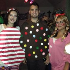 Justin: My fiance is the striped candy and I'm the sprinkle candy from Candy Crush. Our friend was the girl from the game. I play the game a lot (level 500)...