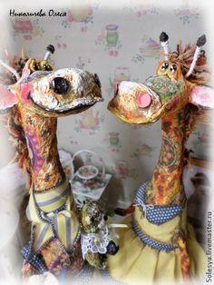 Аркадий и Жирафина - рыжий,жирафы,подарок,авторская ручная работа,любовь