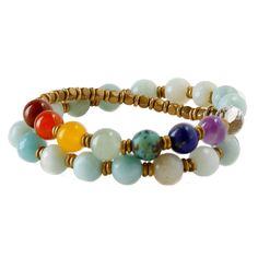 Follow us @lovepray #amazonite #chakragemstones #bracelet #chakrabracelet #loveprayjewelry #madeinusa