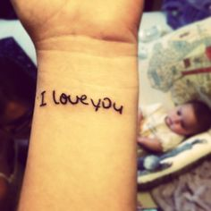 My moms handwriting. Tattoo