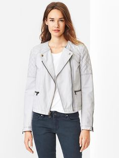 Quilted moto jacket Product Image
