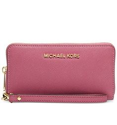 Michael Michael Kors Jet Set Travel Large Coin Multifunction Wallet (Tulp) ** Want additional info? Click on the image.