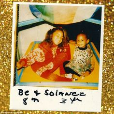 Many happy returns: Beyonce posted a flashback shot of herself with sister Solange on Wednesday to celebrate her siblings 29th birthday