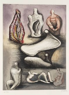 Artwork page for 'Seven Sculpture Ideas I', Henry Moore OM, CH, Abstract Sculpture, Sculpture Art, Sculpture Ideas, Metal Sculptures, Stone Sculpture, Henry Moore Drawings, Henry Moore Sculptures, A Level Art, Action Painting