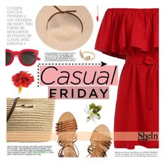 """""""Casual Friday"""" by tasnime-ben ❤ liked on Polyvore featuring J.Crew, Yves Saint Laurent, Ashley Graham, Butter London, Sheinside and shein"""