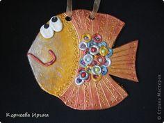 Лепка - еще рыбка из соленого теста